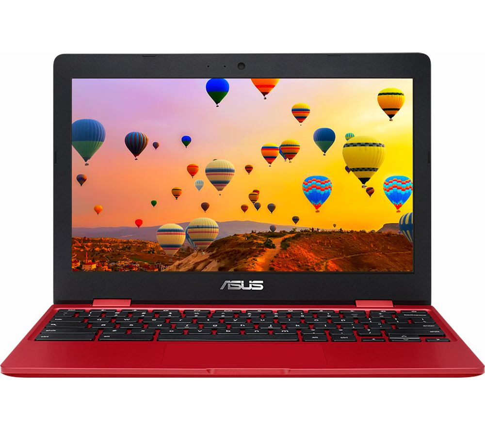 "Image of ASUS C223 11.6"" Chromebook - Intel®Celeron, 32 GB eMMC, Red, Red"