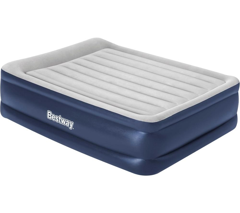 BESTWAY Tritech Raised Height Inflatable Queen Airbed - Grey & Blue