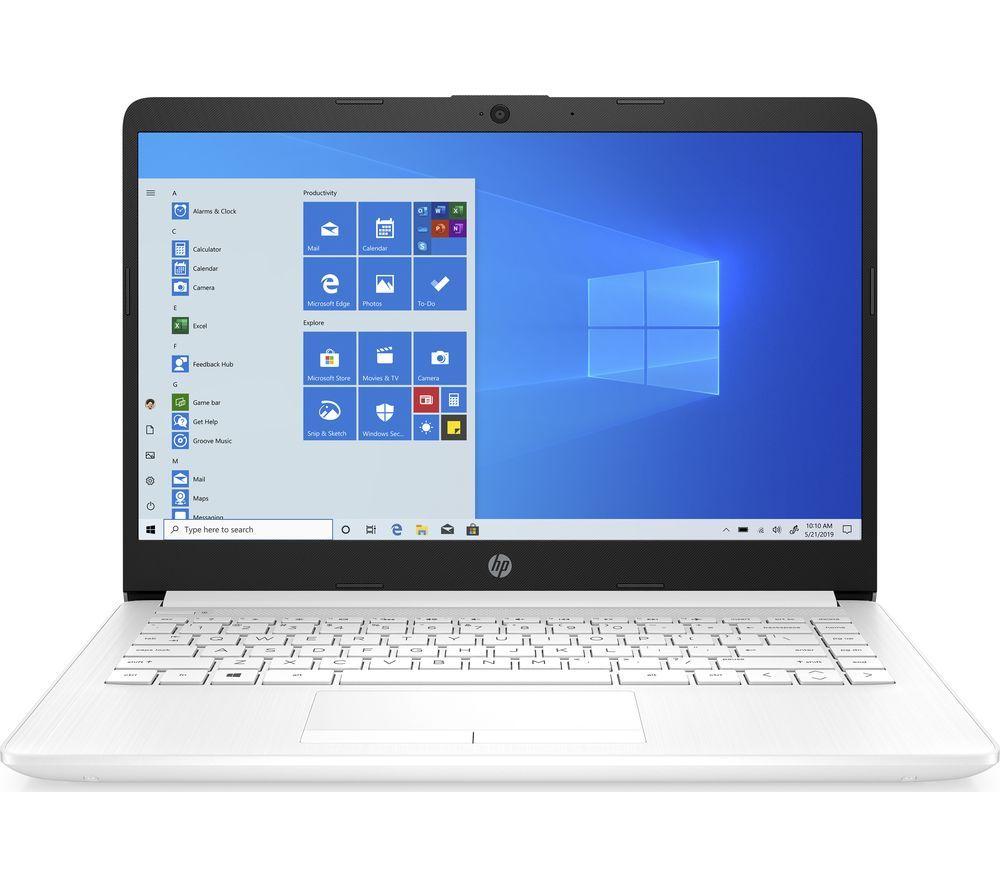 "HP 14-cf2507sa 14"" Laptop - Intel® Pentium™ Gold, 128 GB SSD, White"