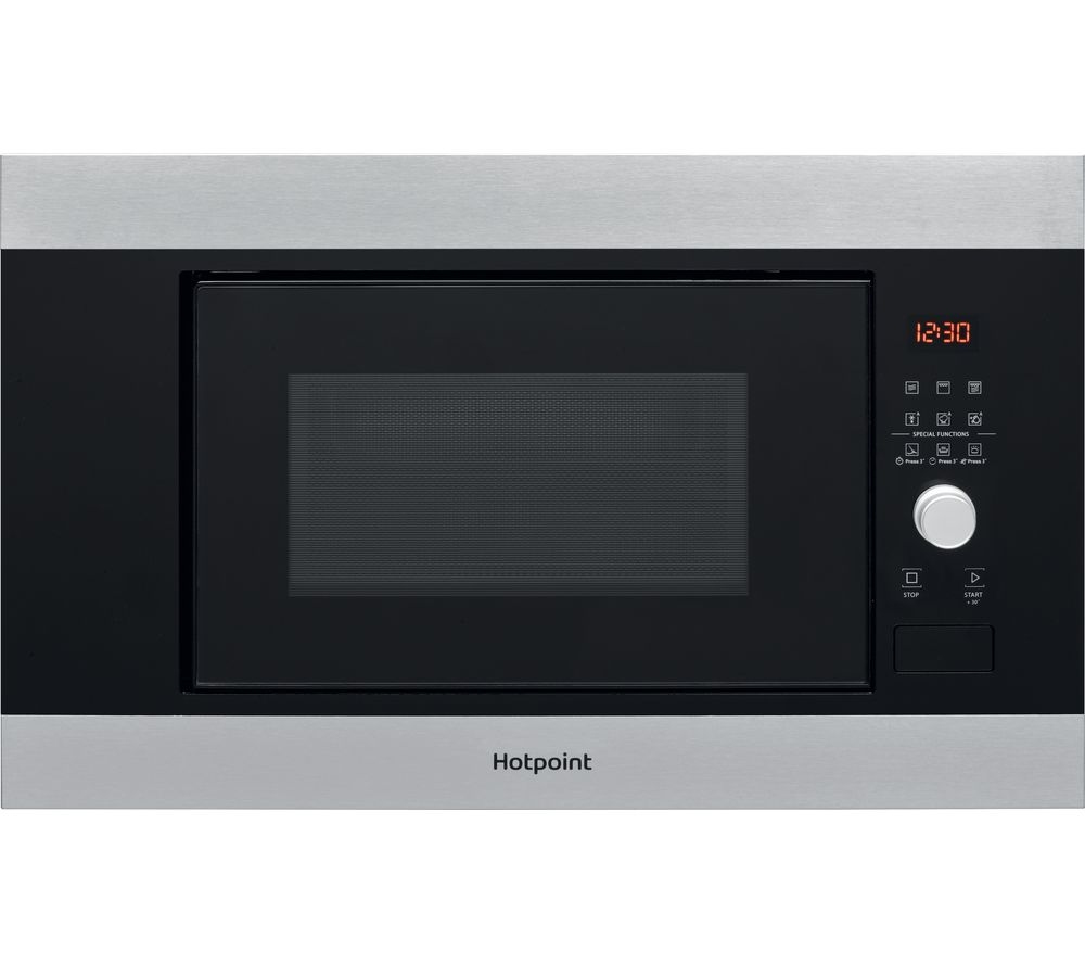 HOTPOINT MF20G IX H Built-in Microwave with Grill - Black, Black