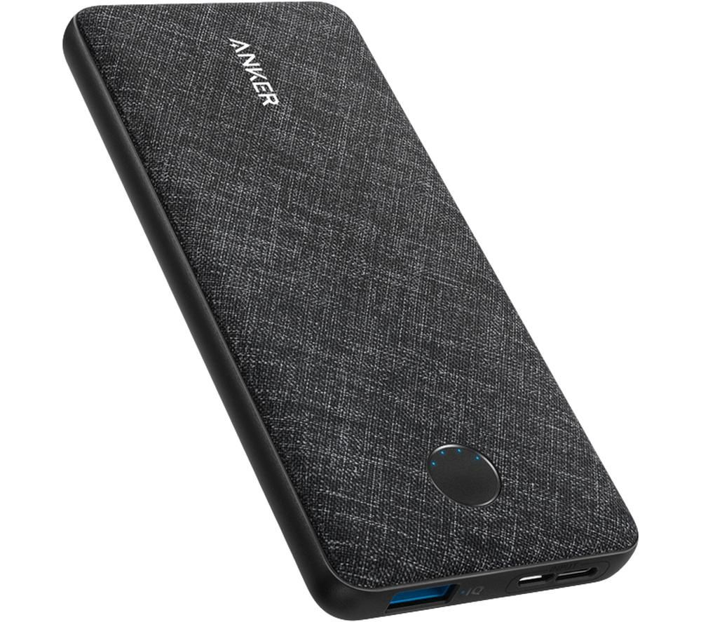 ANKER PowerCore Metro Slim 10000 Portable Power Bank - Black, Black