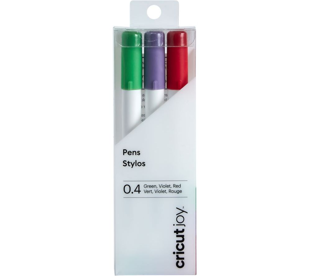CRICUT Joy Fine Point Pen Set - Red, Green & Violet