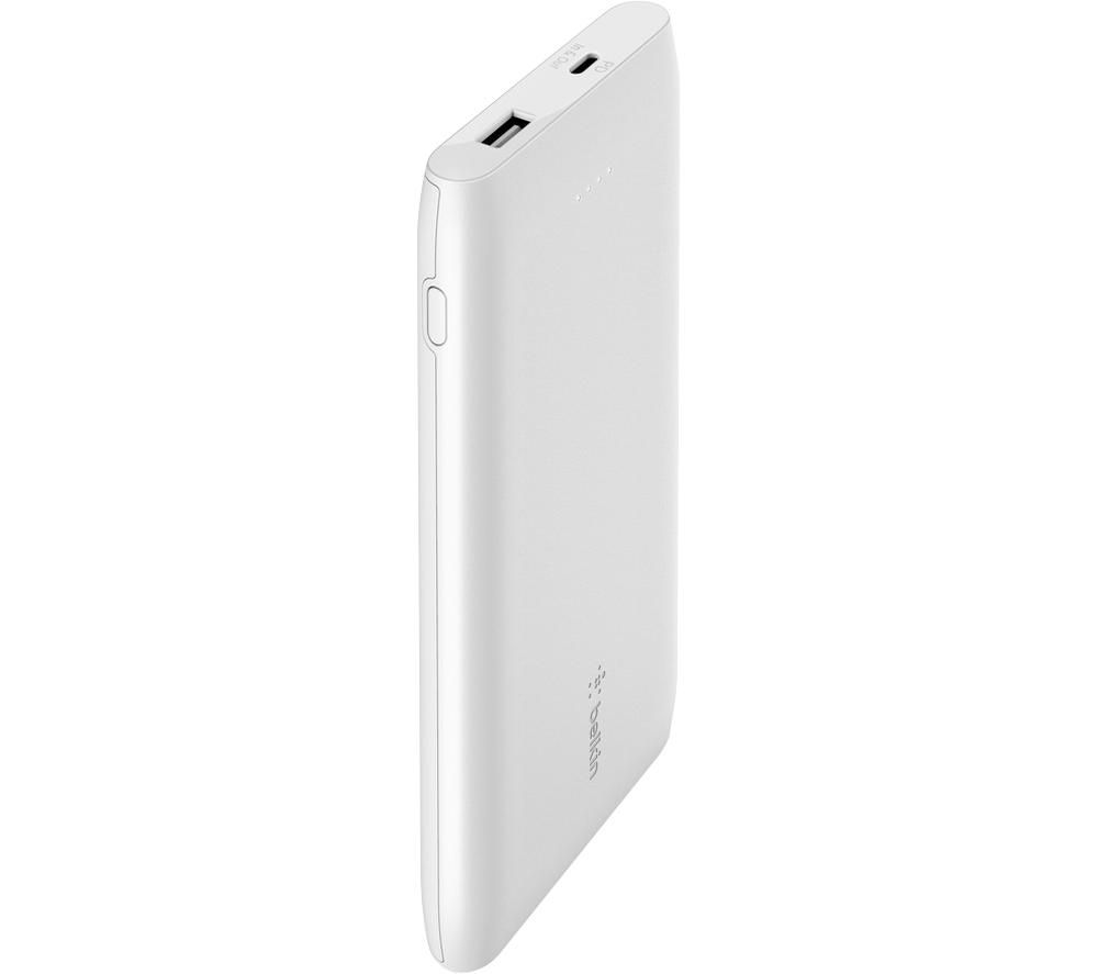 BELKIN 10000 mAh Portable Power Bank with 18 W USB-C Fast Charge - White