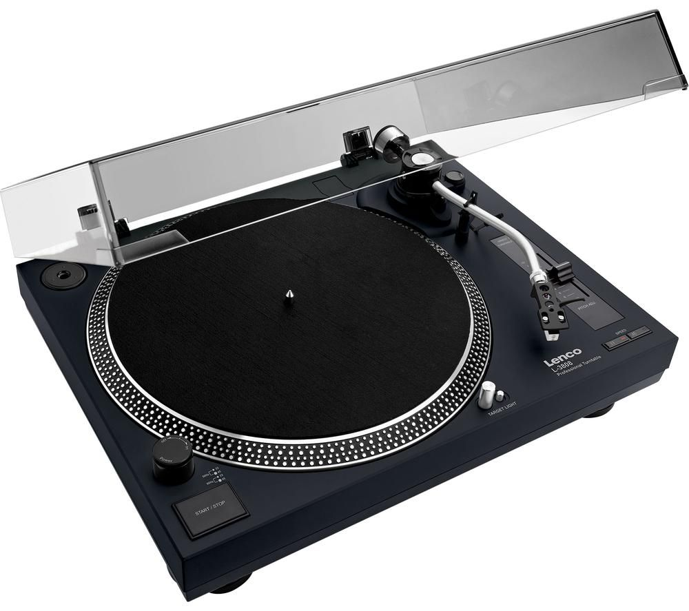 LENCO LS-3808 Direct Drive Turntable - Black