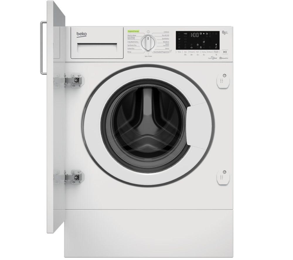 BEKO WDIK854451 Bluetooth Integrated 8 kg Washer Dryer