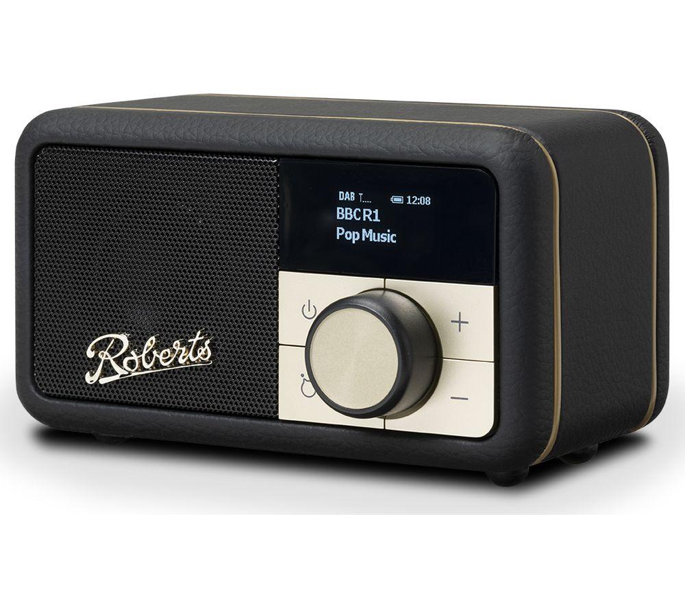 ROBERTS Revival Petite DAB+/FM Retro Bluetooth Radio - Black