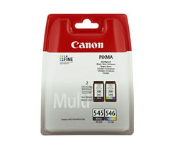 CANON PG-545/CL-546 Tri-colour & Black Ink Cartridges - Twin Pack