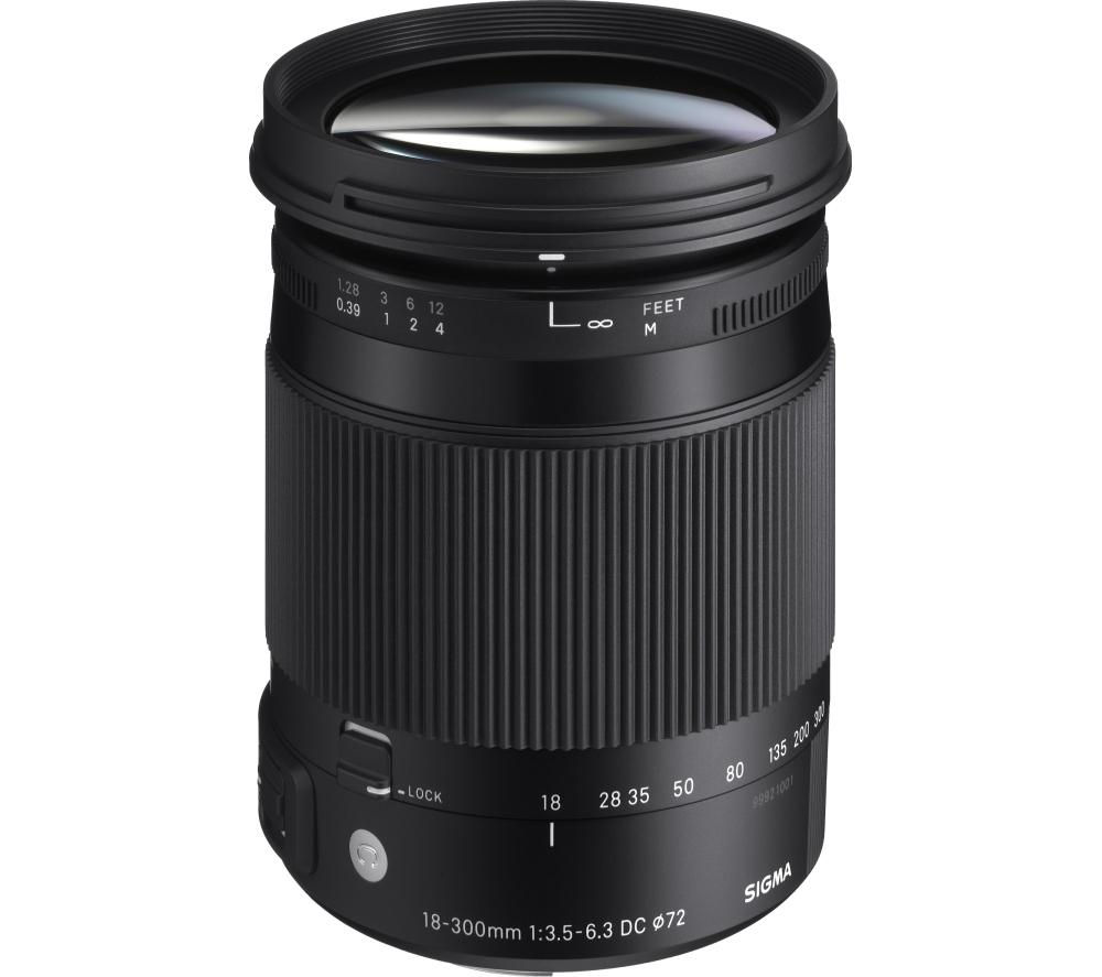 SIGMA 18-300 mm f/3.5-6.3 DC HSM OS Telephoto Zoom Lens with Macro - for Nikon
