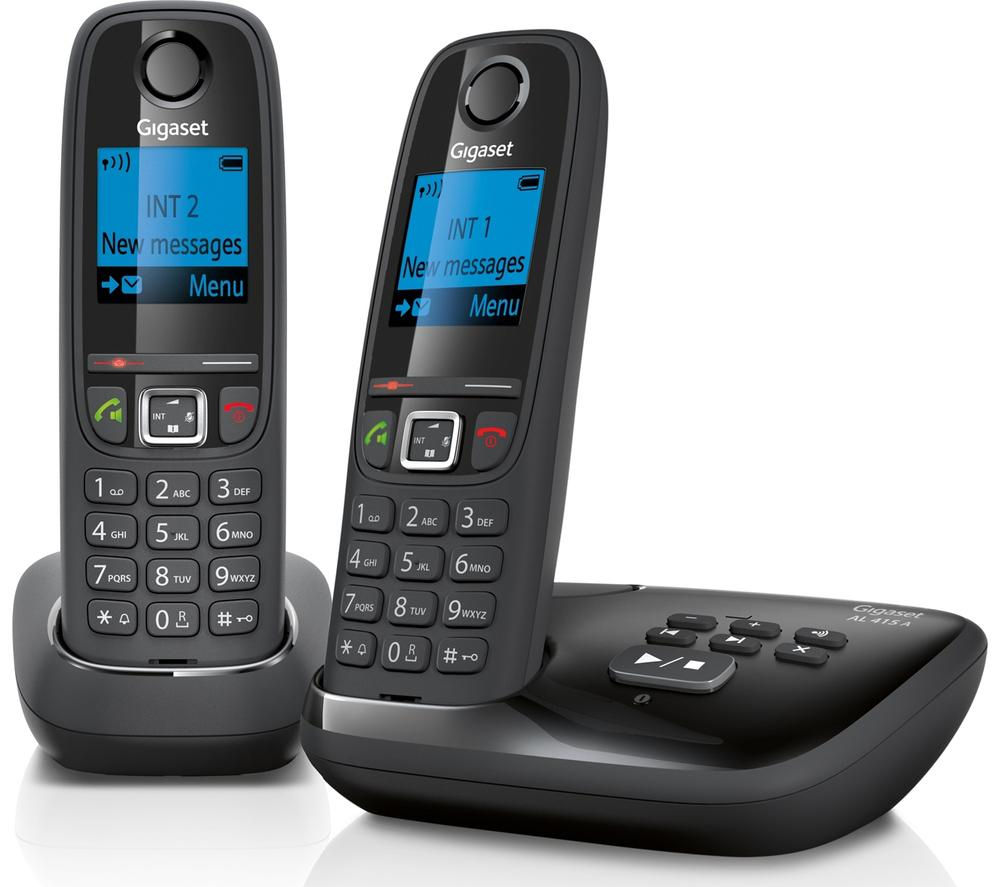 a house phone home phones way to stay connected at home GIGASET Duo AL415A Cordless Phone with Answering Machine - Twin Handsets