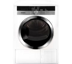 GRUNDIG GTN38250HGCW Heat Pump Tumble Dryer - White