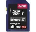 INTEGRAL UltimaPro High Performance Class 10 SDHC Memory Card - 64 GB