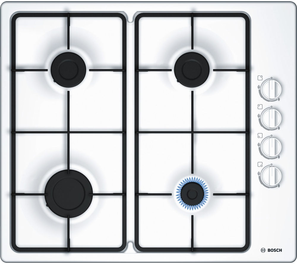 buy bosch pbp6b2b60 gas hob white free delivery currys. Black Bedroom Furniture Sets. Home Design Ideas