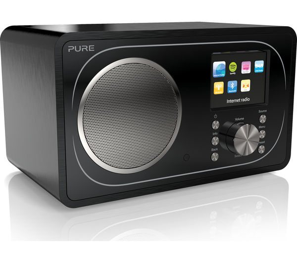 buy pure evoke f3 dab fm bluetooth clock radio black free delivery currys. Black Bedroom Furniture Sets. Home Design Ideas