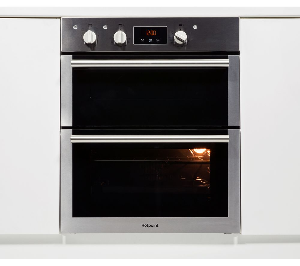 HOTPOINT Class 4 DU4 541 IX Electric Double Oven - Black & Stainless Steel, Black