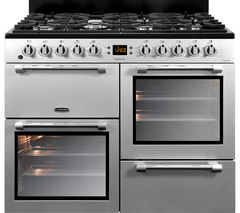 LEISURE Cookmaster 100 CK100F232S 100 cm Dual Fuel Range Cooker - Silver & Chrome