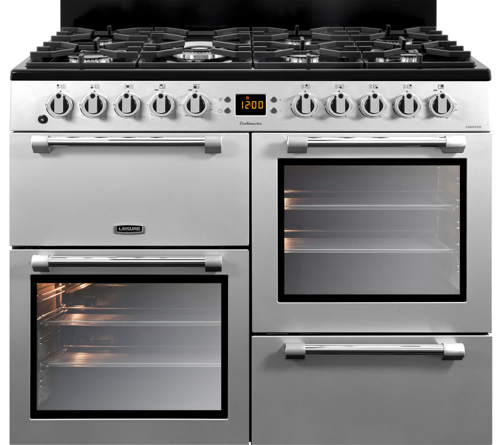 LEISURE Cookmaster 100 CK100F232S 100 cm Dual Fuel Range Cooker - Silver & Chrome, Silver