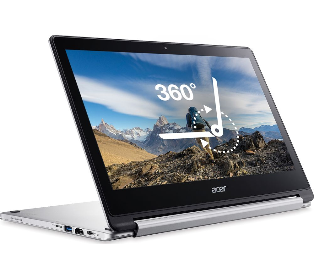 ACER R13 2 in 1 Chromebook - 64 GB eMMC, Silver
