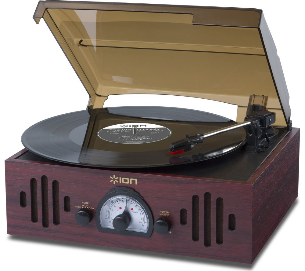 Compare prices for Ion Trio LP Turntable Dark Wood
