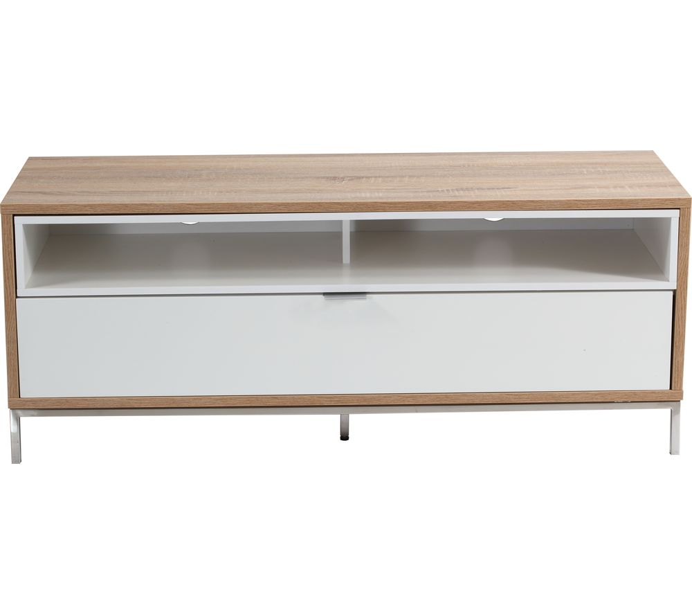 ALPHASON ADCH1135 TV Stand - White & Light Oak, White