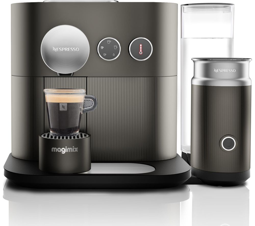 buy nespresso by magimix expert m500 smart coffee machine with aeroccino arithrocite grey. Black Bedroom Furniture Sets. Home Design Ideas
