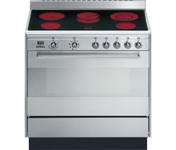 SMEG Concert 90 cm Electric Ceramic Range Cooker - Stainless Steel