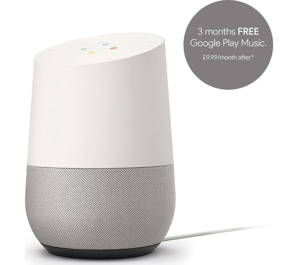 buy google home white free delivery currys