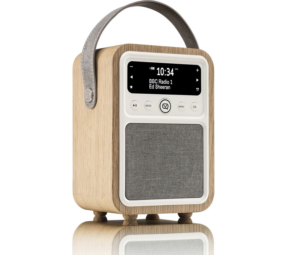 VQ Monty Portable DAB+/FM Retro Bluetooth Clock Radio - Oak