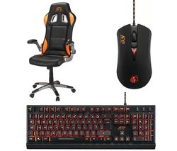 AFX Firebase: C01 Gaming Chair - Black & Orange