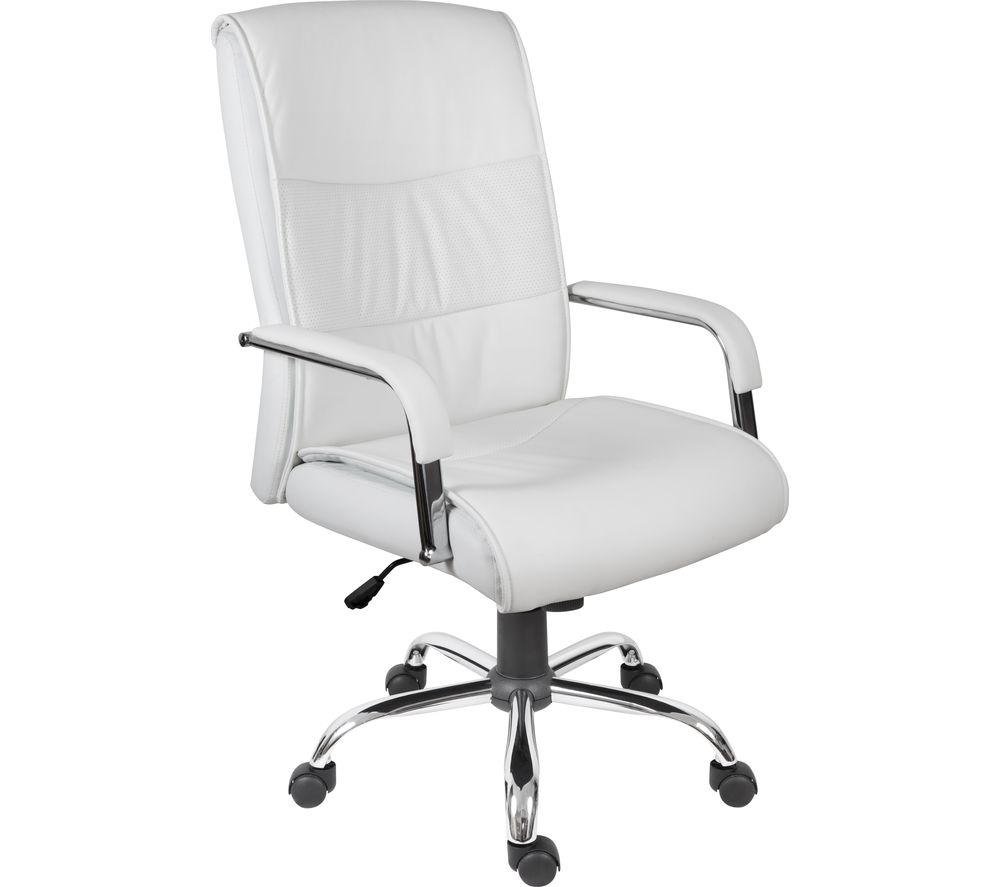 TEKNIK 6901WH Faux-leather Reclining Executive Chair - Kendal White