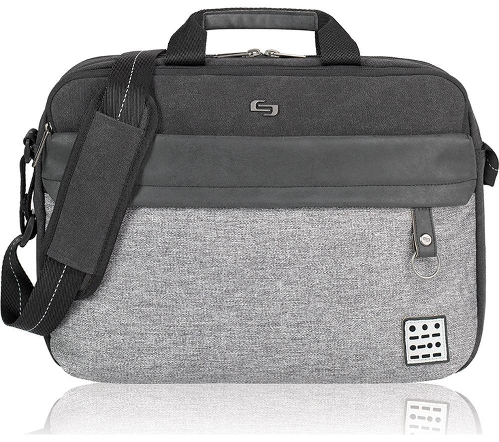 "SOLO Code Venture 15.6"" Laptop Messenger Bag - Grey"