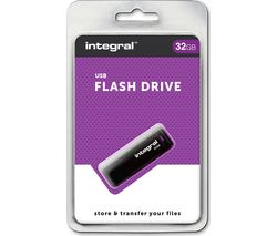 USB 2.0 Memory Stick - 32 GB, Black