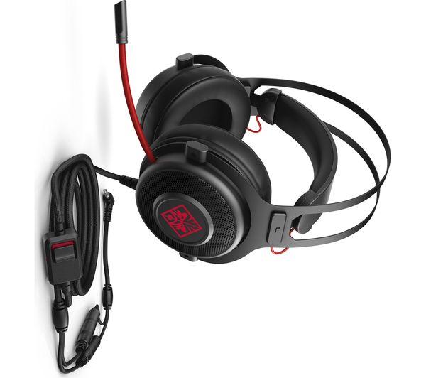 1KF76AA#ABB - HP OMEN 800 Gaming Headset - Black - Currys PC World