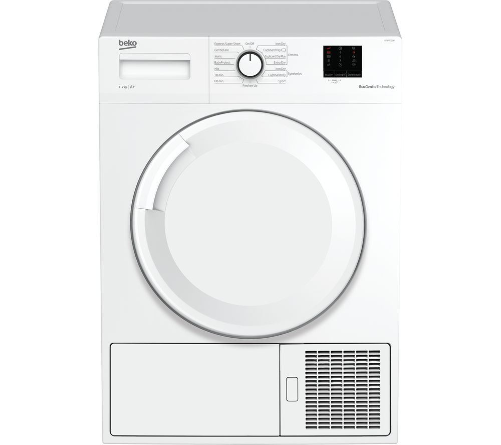 Image of BEKO DTBP7001W 7 kg Heat Pump Tumble Dryer - White, White
