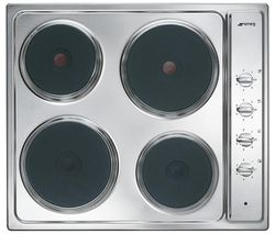 Cucina SE435S Electric Solid Plate Hob - Stainless Steel