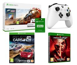 MICROSOFT Xbox One S, Forza Horizon 4, Tekken 7, Project Cars 2, Xbox LIVE Gold & Wireless Controller Bundle
