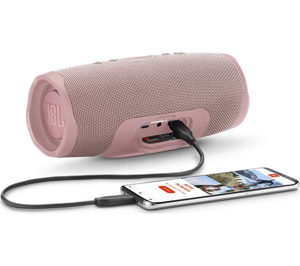 JBL Charge 4 Portable Bluetooth Speaker - Pink