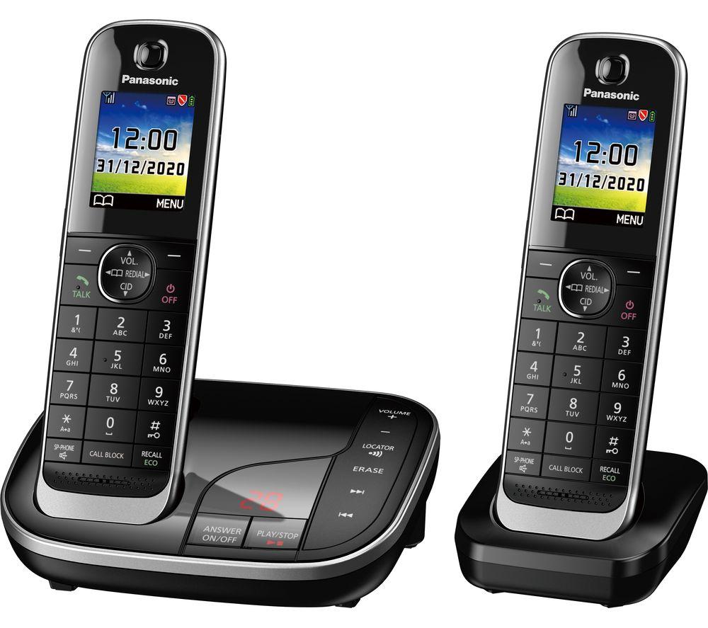 PANASONIC KX-TGJ422EB Cordless Phone - Twin Handsets