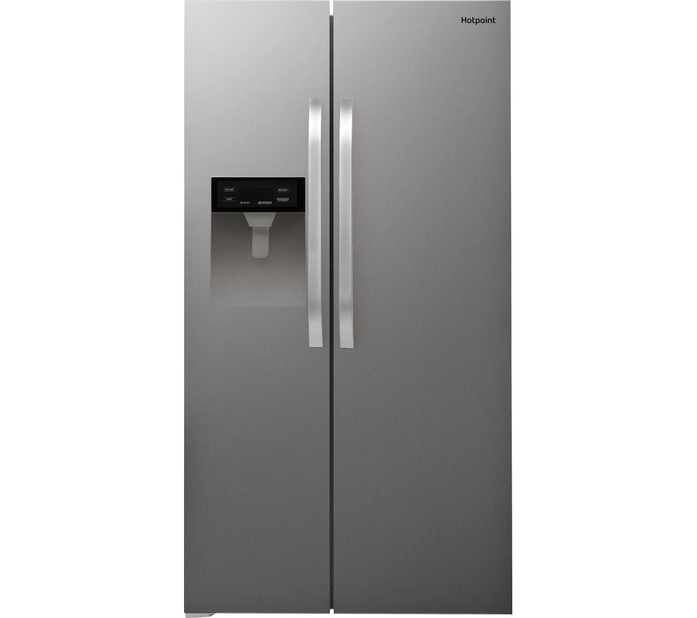 HOTPOINT SXBHE 924 WD American-Style Fridge Freezer - Silver