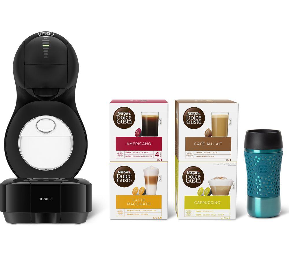 DOLCE GUSTO by Krups Lumio KP130841 Coffee Machine Travel Kit - Black