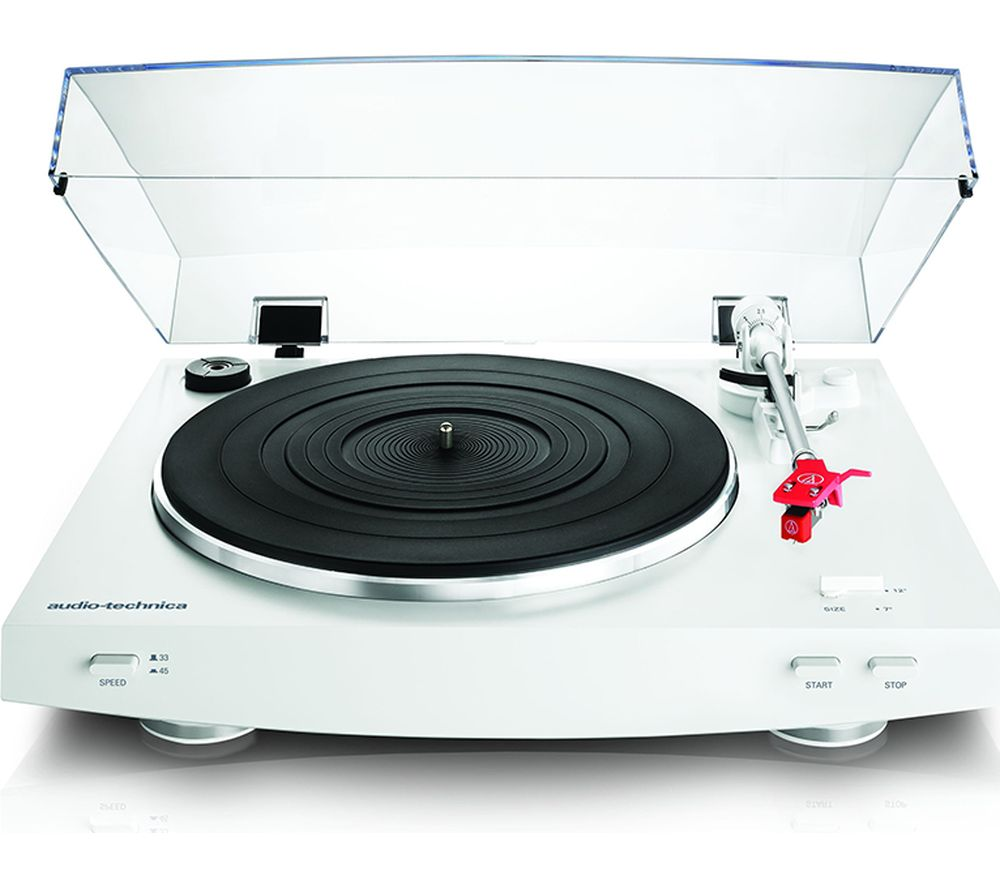 Image of AUDIO TECHNICA AT-LP3 Belt Drive Turntable - White, White