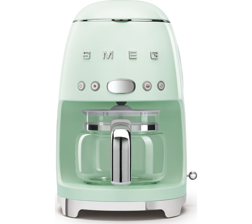 50s Retro DCF02PGUK Filter Coffee Machine - Pastel Green, Green