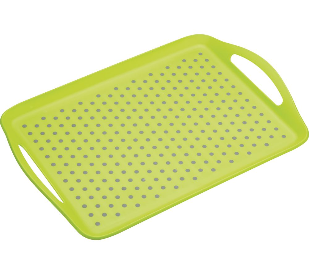 Anti-Slip Serving Tray - Grey & Green