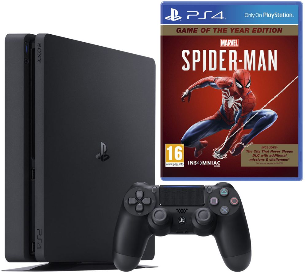 SONY PlayStation 4 & Marvels Spider-Man: Game of the Year Edition Bundle - 500 GB