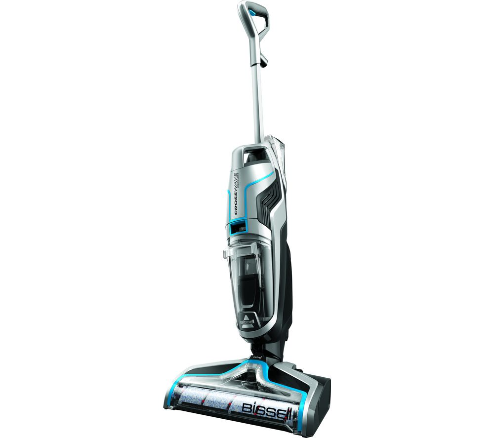 Image of BISSELL Crosswave 2582E Cordless Wet & Dry Vacuum Cleaner - Silver, Silver