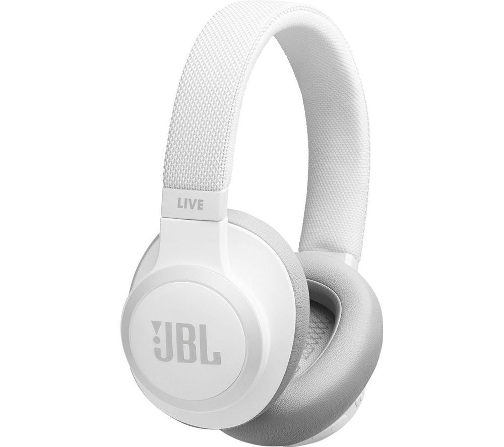 JBL Live 650BTNC Wireless Bluetooth Noise-Cancelling Headphones - White
