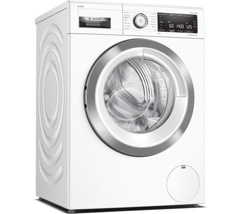 BOSCH Serie 8 WAV28KH9GB WiFi-enabled 9 kg 1400 Spin Washing Machine - White