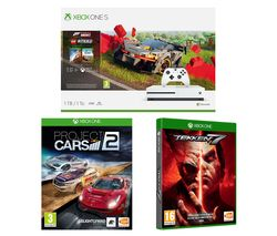 MICROSOFT Xbox One S, Forza Horizon 4, LEGO Speed Champions, Tekken 7 & Projects Cars 2 Bundle