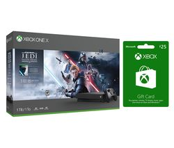 MICROSOFT Xbox One X, Star Wars Jedi: Fallen Order Deluxe Edition & Xbox Live £25 Gift Card Bundle