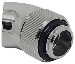 EK Water Blocks EK-AF Angled 45 Degrees Fitting Adapter - Silver