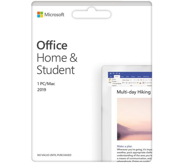 Image of MICROSOFT Office Home & Student 2019 - Lifetime for 1 user